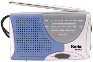 Portable AM/FM Radio with Batteries