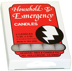 Emergency Candles Slow Burning